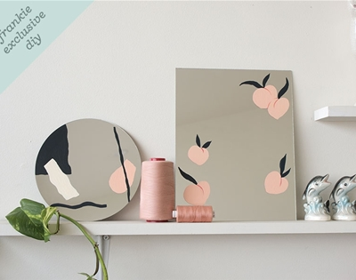 frankie exclusive diy: painted mirror
