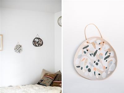 beach-inspired hanging platters