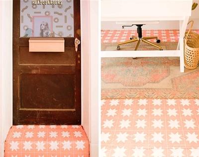 diy faux tile floor
