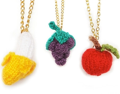 knitted fruit necklace giveaway