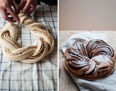 sourdough cinnamon chocolate twist bread