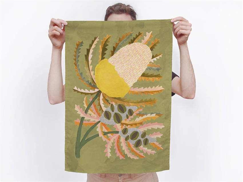 illustrated tea towels by togetherness