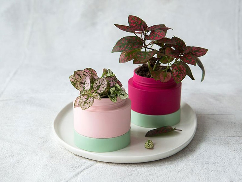 upcycled mini planters