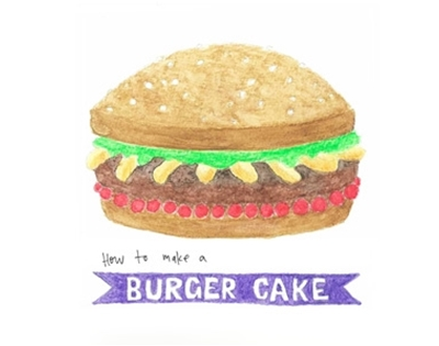the burger cake
