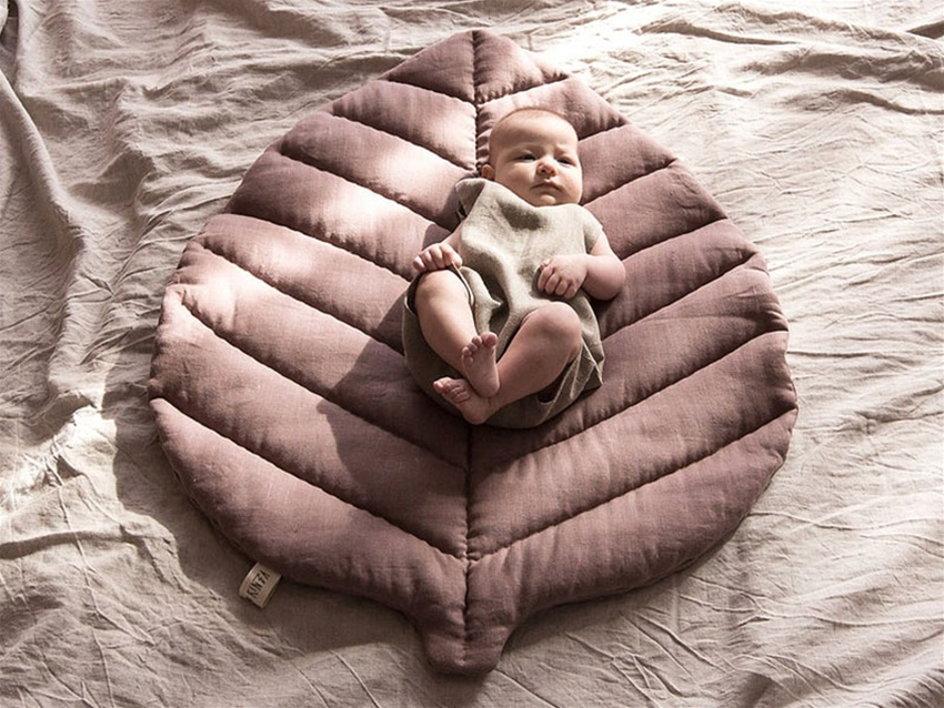 quilted leaf play mat
