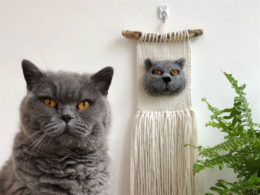 felted pet wall hangings