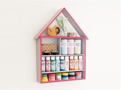 diy craft storage house