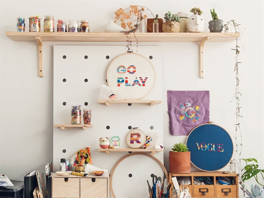 simple ways to spruce up your creative space