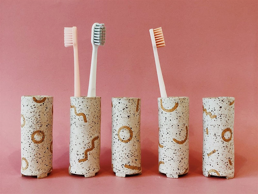a rather splendid toothbrush holder