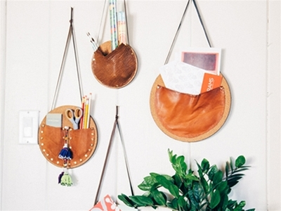 diy wall pockets