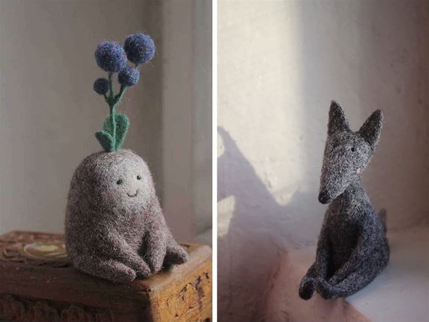 needle-felted friends