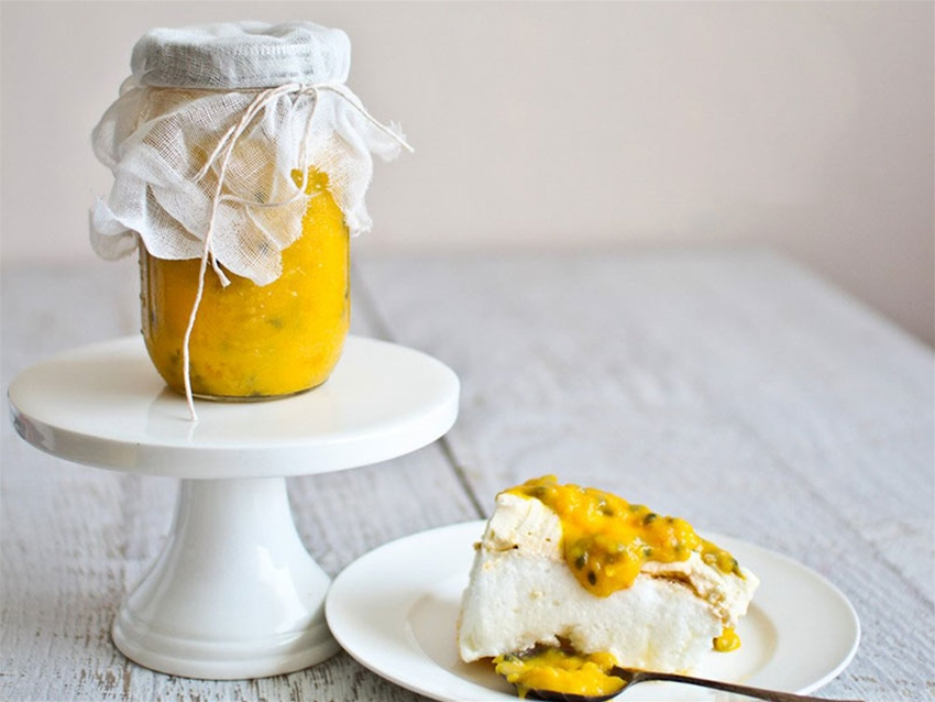 mango and passionfruit curd