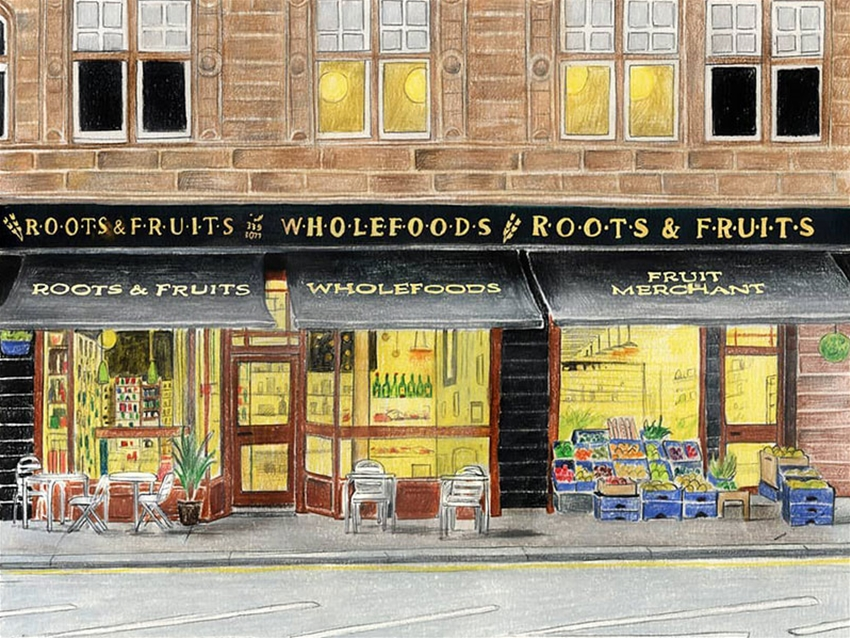 illustrated shop fronts