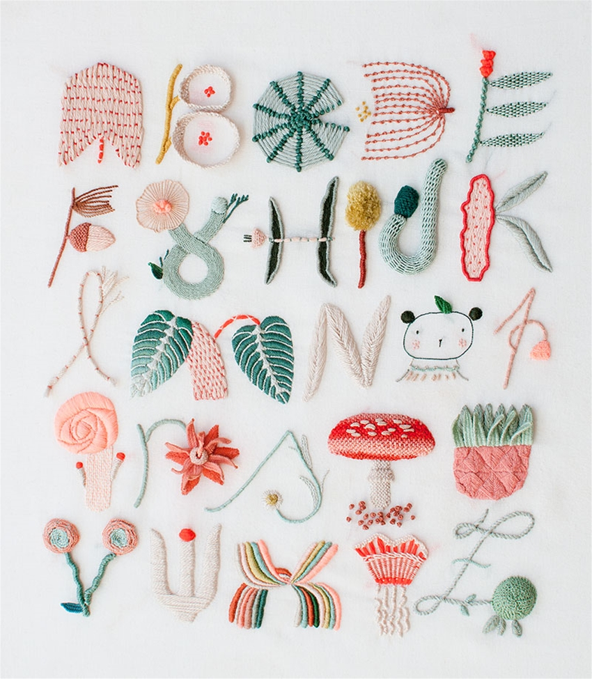 embroider a whimsical-looking psa