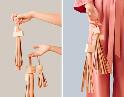 diy wood block tassels