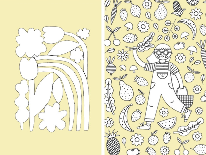 download colouring sheets from heaps of rad artists