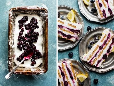 blueberry and lemon icebox cake