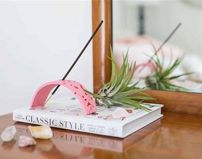 diy terrazzo-look incense holder