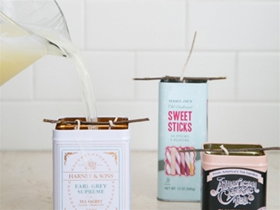 recycled citronella candle DIY