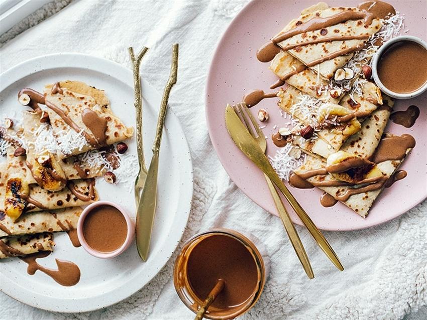 thai banana pancakes with 'nutella'