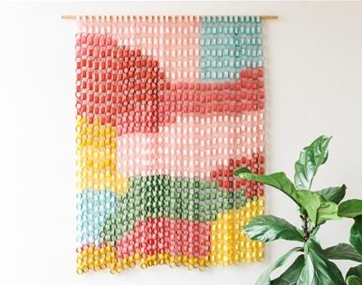 diy paper chain wall