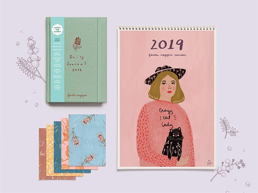 pre-order your 2019 frankie diary and calendar
