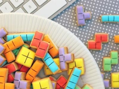 retro tetris cookies