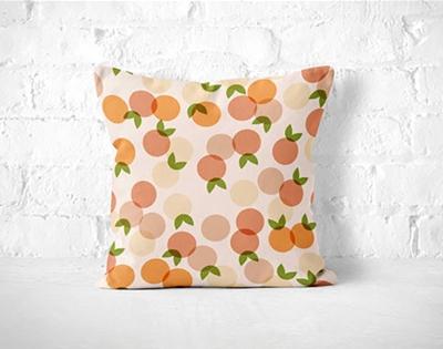 a very peachy pillow