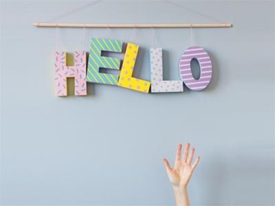 a little bit crafty: just saying hi hanging