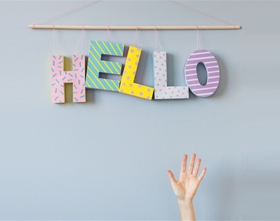 a little bit crafty: just saying hi hanging