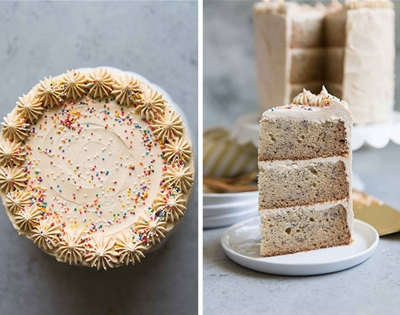 peanut butter and banana layer cake