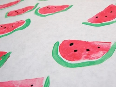 watermelon wrapping diy