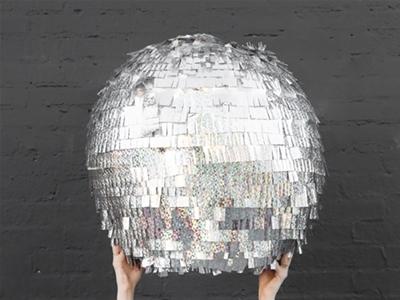 diy disco ball piñata