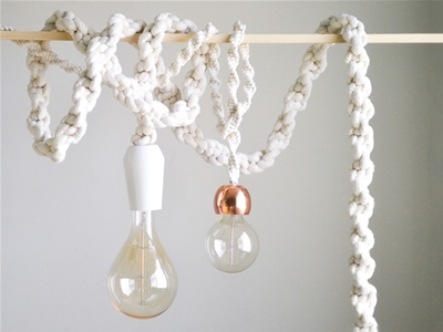diy giant macramé rope lights