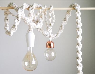 diy giant macramé rope lights