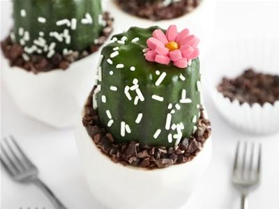 mini cactus cakes