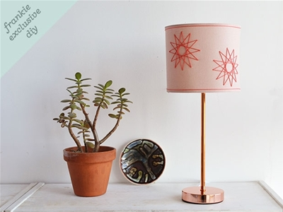 frankie exclusive diy: yarn embroidered lampshade