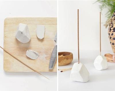 diy geometric incense holder