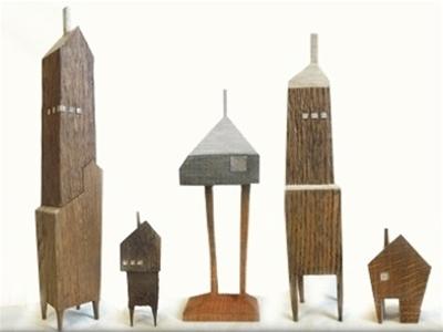 teeny wooden houses