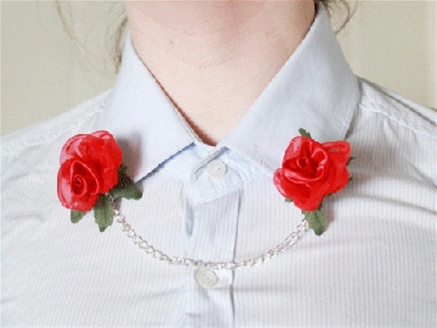 frankie exclusive diy: rose collar clips