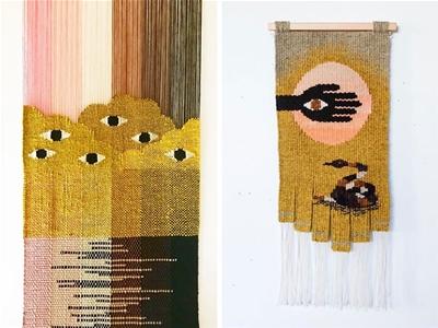 modern weavings by natalie novak