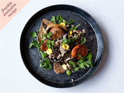 frankie exclusive recipe: fancy mushroom toast