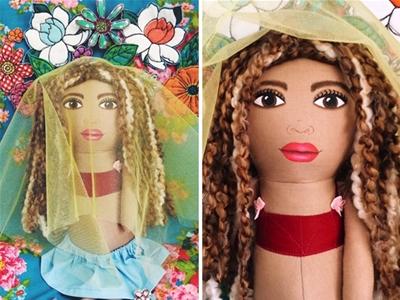 a little vintage dolls