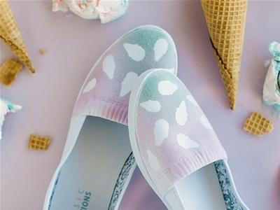 diy ice cream cone shoes