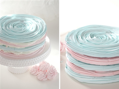 pastel meringue layer cake