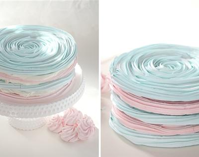 pastel meringue layer cake