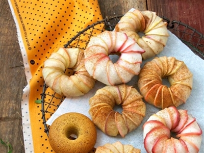 pumpkin cake apple turbans (gluten free!)