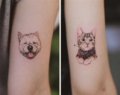 this melbourne tattoo artist excels at pet portraits