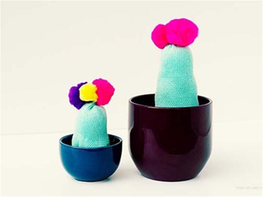 frankie exclusive diy - sock cacti