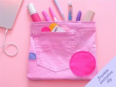 frankie exclusive diy: denim pencil case